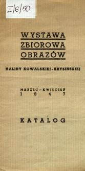 Wystawa zbiorowa obrazów Haliny Kowalskiej-Krysińskiej