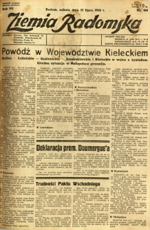 Ziemia Radomska, 1934, R. 7, nr 164