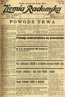 Ziemia Radomska, 1934, R. 7, nr 168