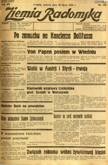 Ziemia Radomska, 1934, R. 7, nr 170