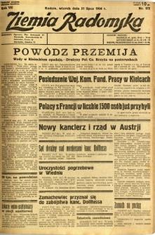 Ziemia Radomska, 1934, R. 7, nr 172