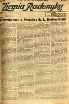 Ziemia Radomska, 1934, R. 7, nr 174