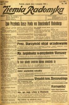 Ziemia Radomska, 1934, R. 7, nr 175