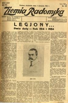 Ziemia Radomska, 1934, R. 7, nr 177