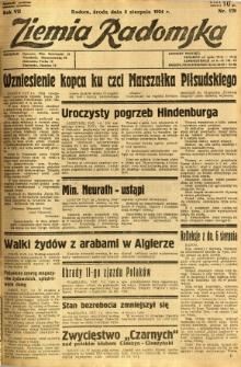 Ziemia Radomska, 1934, R. 7, nr 179