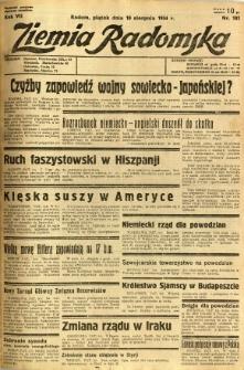 Ziemia Radomska, 1934, R. 7, nr 181