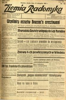 Ziemia Radomska, 1934, R. 7, nr 185
