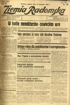 Ziemia Radomska, 1934, R. 7, nr 186