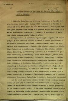 Problem scalenia w zakresie akt Zarządu Dóbr Państwowych w Radomiu