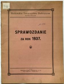 Sprawozdanie za rok 1937