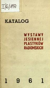 Katalog wystawy jesiennej plastyków radomskich