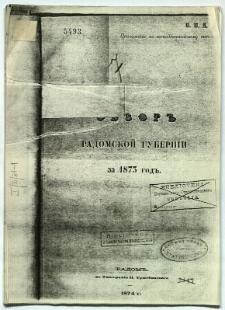 Obzor Radomskoj Guberni za 1873 god