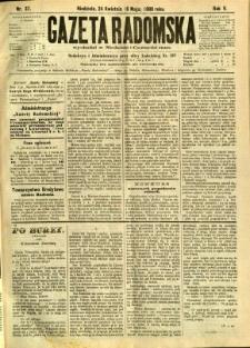 Gazeta Radomska, 1888, R. 5, nr 37