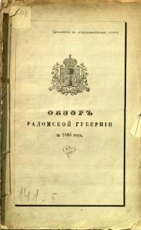 Obzor Radomskoj Guberni za 1886 god