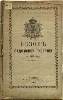 Obzor Radomskoj Guberni za 1897 god