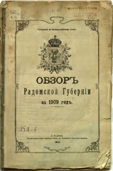 Obzor Radomskoj Guberni za 1909 god