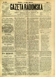 Gazeta Radomska, 1888, R. 5, nr 39