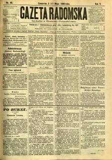 Gazeta Radomska, 1888, R. 5, nr 40