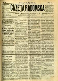 Gazeta Radomska, 1888, R. 5, nr 41