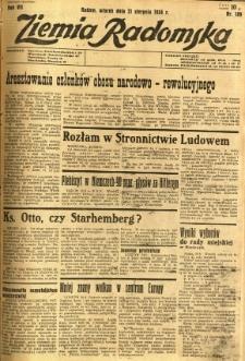 Ziemia Radomska, 1934, R. 7, nr 189