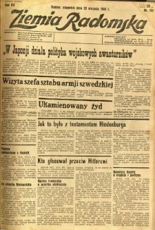 Ziemia Radomska, 1934, R. 7, nr 191