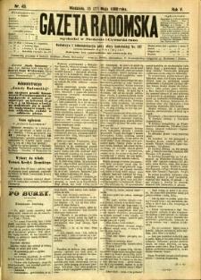 Gazeta Radomska, 1888, R. 5, nr 43