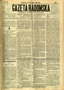 Gazeta Radomska, 1888, R. 5, nr 44