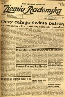 Ziemia Radomska, 1934, R. 7, nr 205
