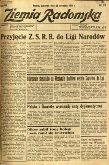 Ziemia Radomska, 1934, R. 7, nr 215