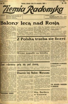 Ziemia Radomska, 1934, R. 7, nr 219