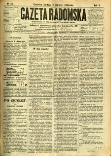 Gazeta Radomska, 1888, R. 5, nr 46