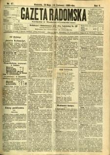 Gazeta Radomska, 1888, R. 5, nr 47
