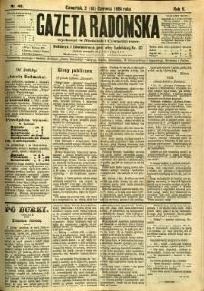 Gazeta Radomska, 1888, R. 5, nr 48