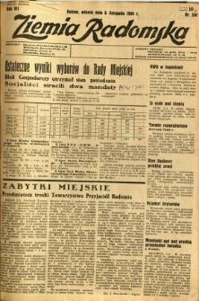 Ziemia Radomska, 1934, R. 7, nr 254