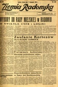 Ziemia Radomska, 1934, R. 7, nr 255