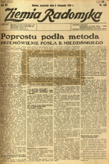 Ziemia Radomska, 1934, R. 7, nr 256