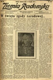 Ziemia Radomska, 1934, R. 7, nr 259