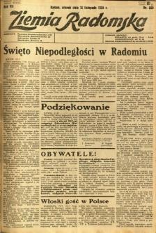 Ziemia Radomska, 1934, R. 7, nr 260