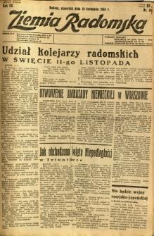 Ziemia Radomska, 1934, R. 7, nr 262