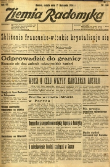 Ziemia Radomska, 1934, R. 7, nr 264