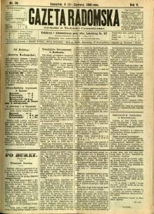 Gazeta Radomska, 1888, R. 5, nr 50