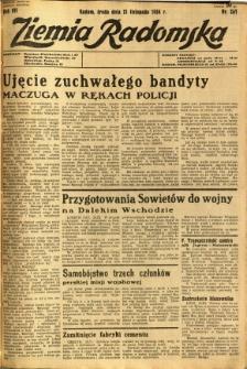 Ziemia Radomska, 1934, R. 7, nr 267