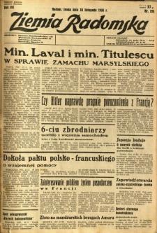 Ziemia Radomska, 1934, R. 7, nr 273