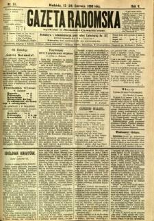 Gazeta Radomska, 1888, R. 5, nr 51