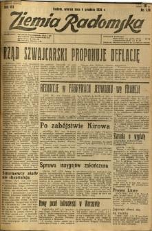 Ziemia Radomska, 1934, R. 7, nr 278