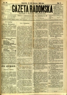 Gazeta Radomska, 1888, R. 5, nr 52
