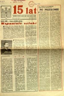 15 lat : Jednodniówka Miejskiego Komitetu Frontu Jedności Narodu w Radomiu