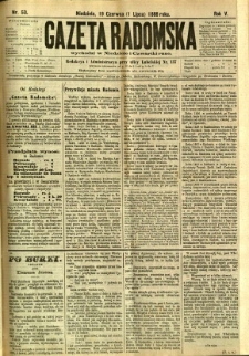 Gazeta Radomska, 1888, R. 5, nr 53