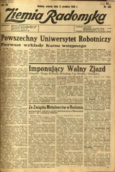 Ziemia Radomska, 1934, R. 7, nr 283