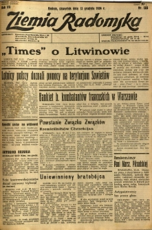 Ziemia Radomska, 1934, R. 7, nr 285